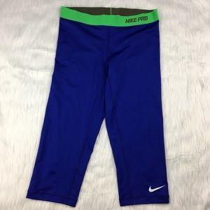 Nike Pro Blue Crop Leggings
